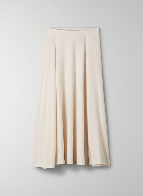 BEACH SKIRT - High-waisted midi skirt with slit