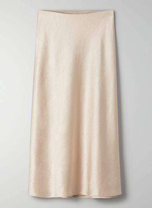BAROLO SKIRT - Satin midi slip skirt