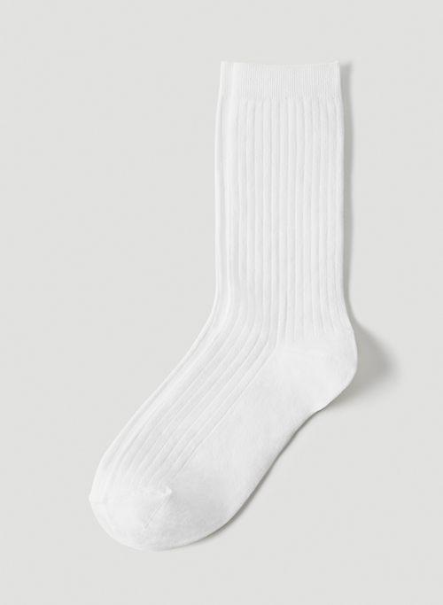 DRESS CREW SOCK - Ribbed crew socks
