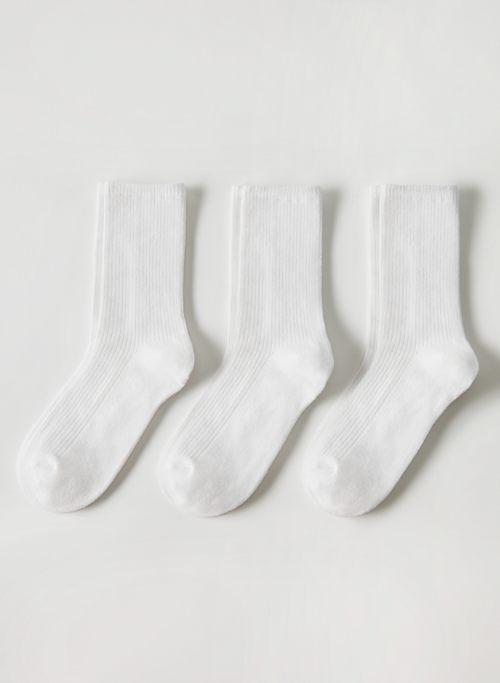 ONLY CREW SOCK 3-PACK - Ribbed crew socks