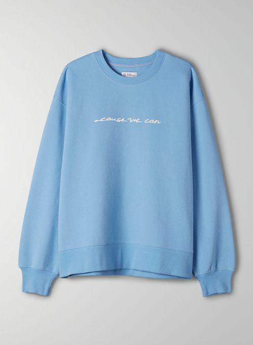 CAUSE WE CARE OVERSIZED CREW SWEATSHIRT - Limited-edition boyfriend-fit sweatshirt