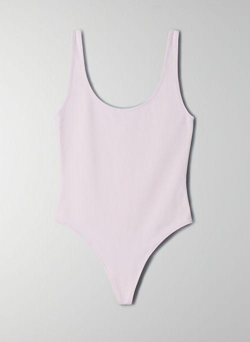 LEILA BODYSUIT - Scoop-neck, thong bodysuit