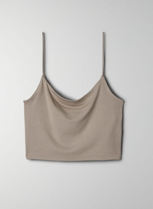 TINY TANK - Cropped scoop-neck tank