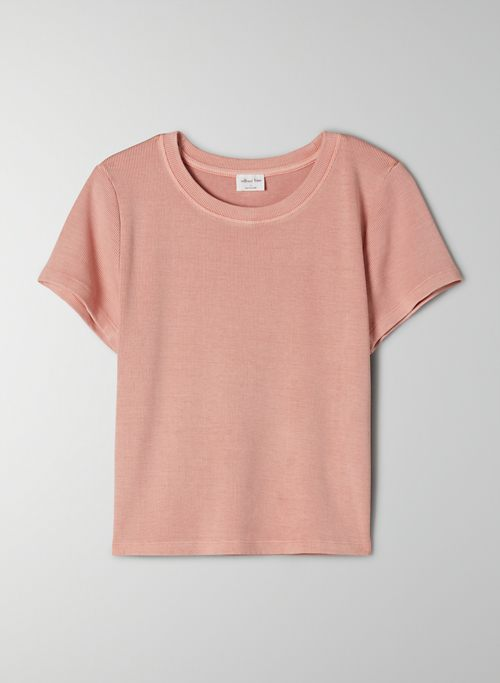 GO-TO T-SHIRT - Ribbed crew-neck t-shirt