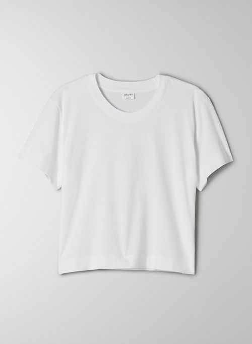 WEEKEND T-SHIRT - Cropped, crew-neck t-shirt