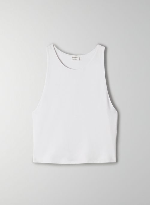 VALLEY TANK - Cropped, halter-neck tank top