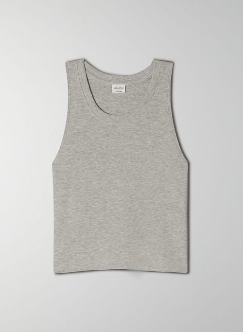 GO-TO CROPPED TANK - Cropped, ribbed tank