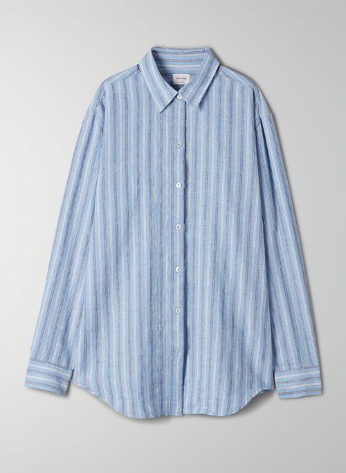 SALEM BUTTON-UP - Relaxed-fit, linen button-up shirt