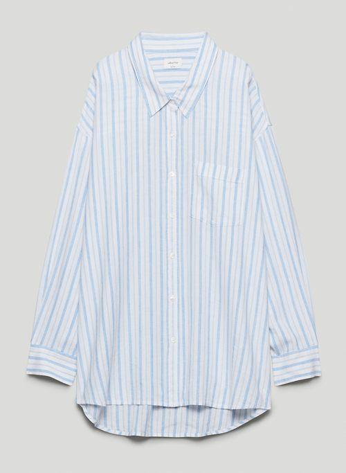 DELLA BUTTON-UP - Oversized, linen button-up shirt