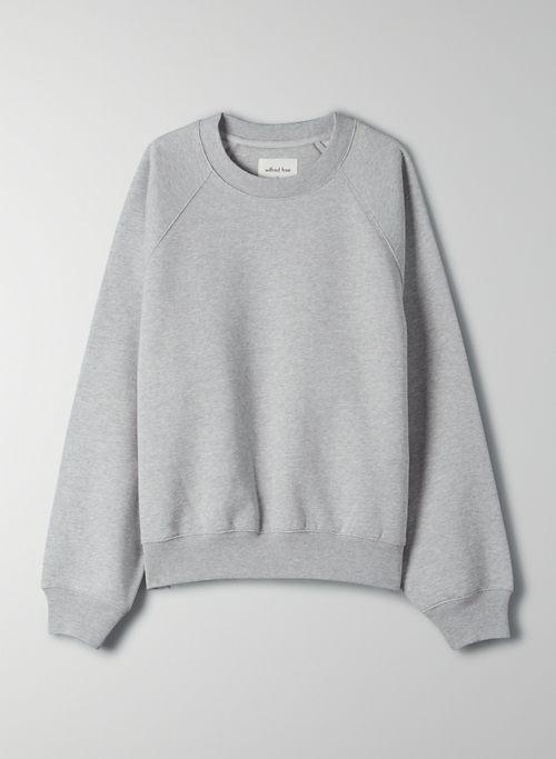 FREE FLEECE CREW SWEATSHIRT - Organic cotton fleece crew-neck sweater