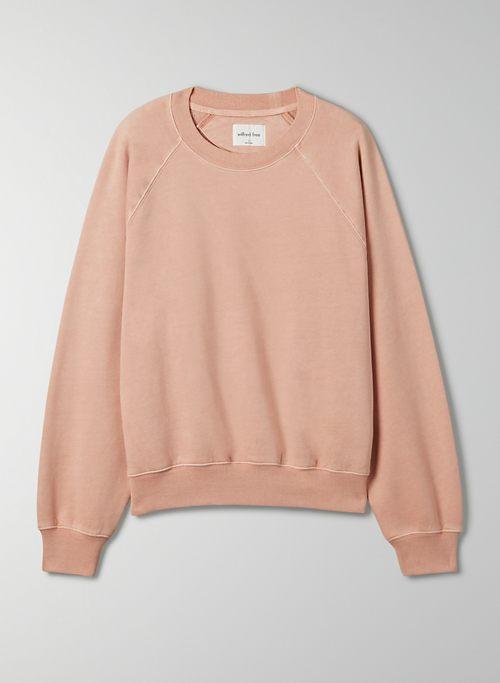 FREE FLEECE CREW SWEATSHIRT - Organic cotton fleece, crew-neck sweater