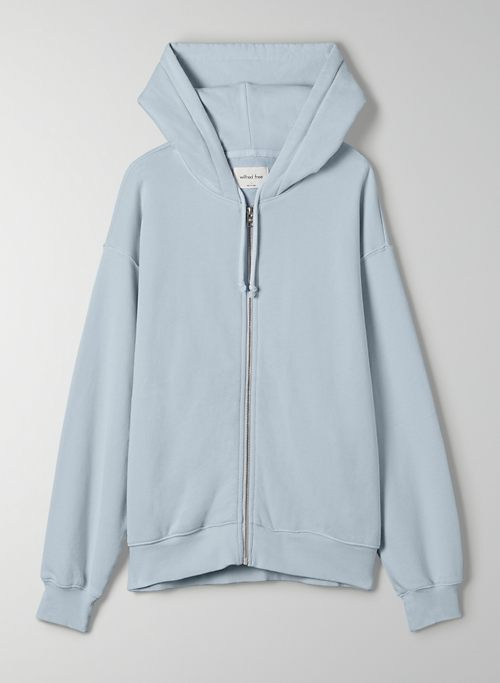 FREE TERRY FLEECE ZIP-UP - Organic cotton zip-up hoodie