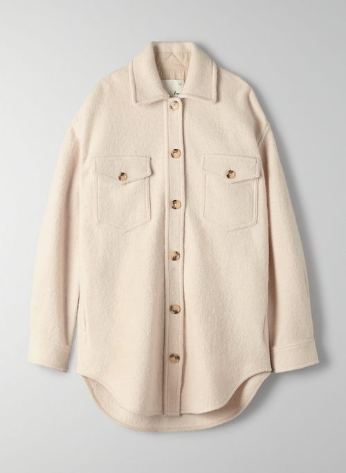 THE GANNA SHIRT JACKET - Oversized wool shirt jacket
