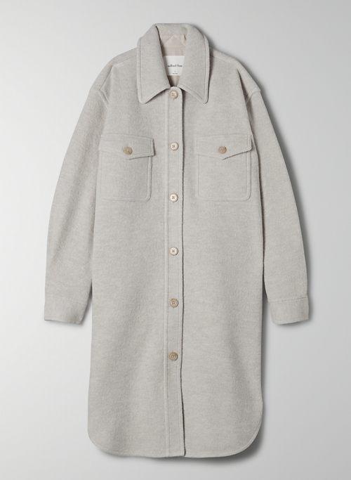 THE GANNA LONG SHIRT JACKET - Oversized wool shirt jacket