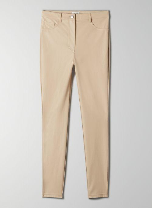 CHARM PANT - High-waisted Vegan Leather leggings