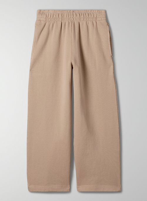 FREE TERRY FLEECE SWEATPANT - High-waisted, wide-leg sweatpant