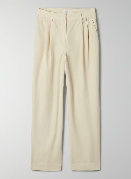 COMPASS PANT - High-waisted, pleated pant
