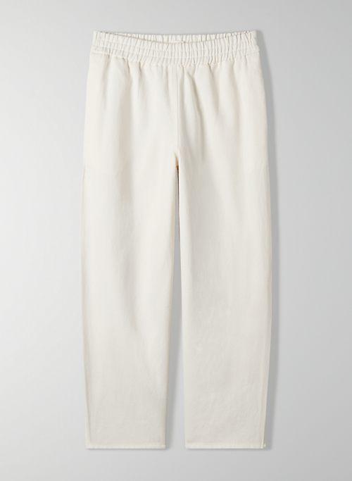CALABASAS PANT - Mid-rise, linen pant