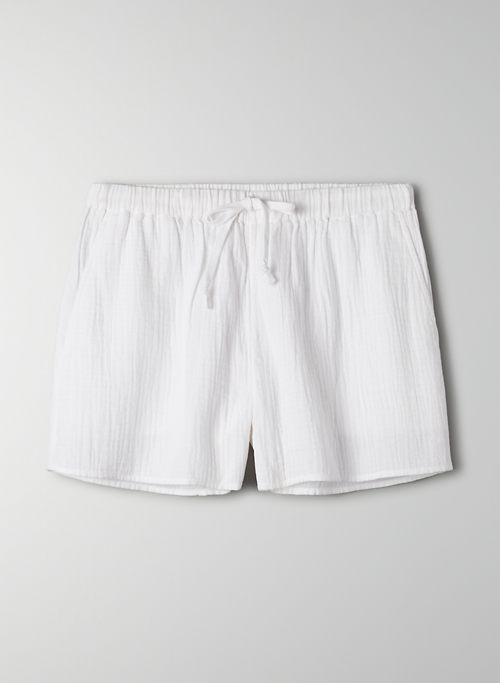 SAIL SHORT - High waisted cotton shorts