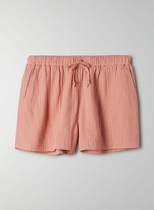 SAIL SHORT - High waisted cotton shorts