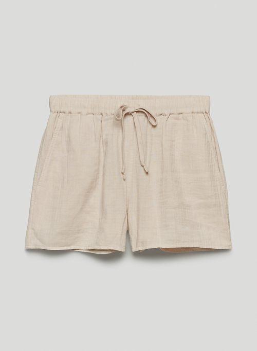 "SAIL 3"" SHORT - High-waisted cotton shorts"