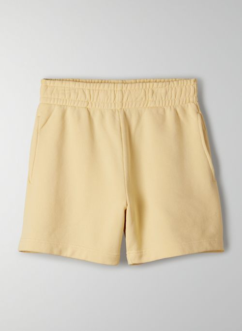 "FREE TERRY FLEECE 5"" SWEATSHORT - High-waisted, organic cotton shorts"