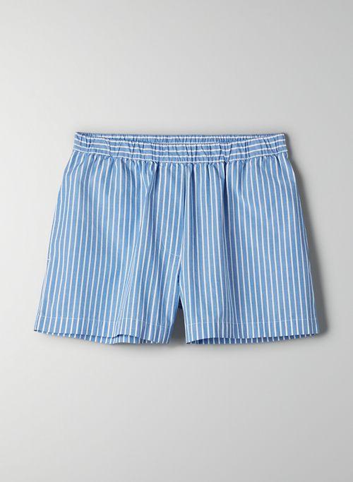 BONFIRE SHORT - High-waisted poplin shorts