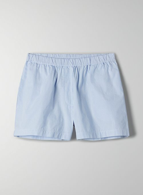BONFIRE SHORT - High-waisted poplin shorts