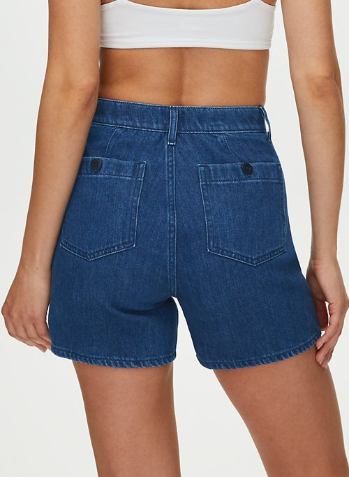 CADES SHORT - High-waisted denim shorts