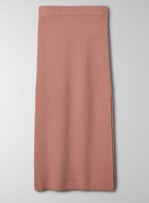 LEEDS SKIRT - High-rise chenille pencil skirt
