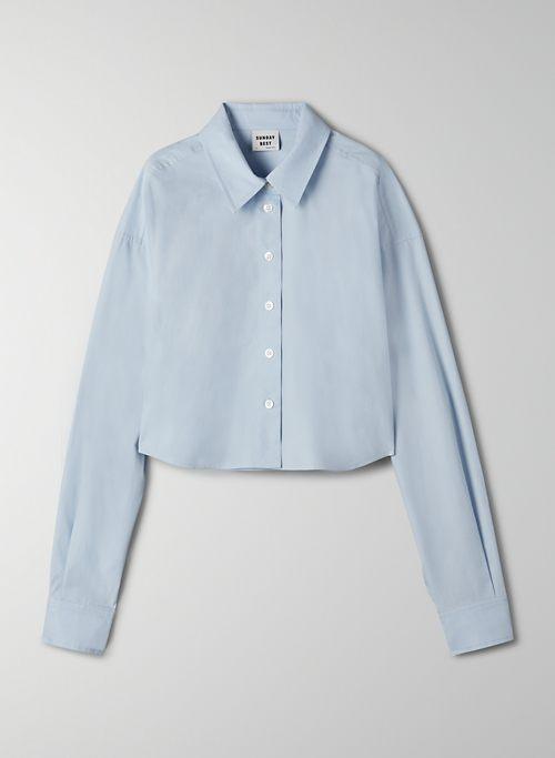 POPPY BUTTON-UP - Poplin button-up shirt