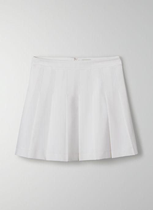 """OLIVE MINI 15"""" SKIRT - Pleated, high-waisted mini skirt"""