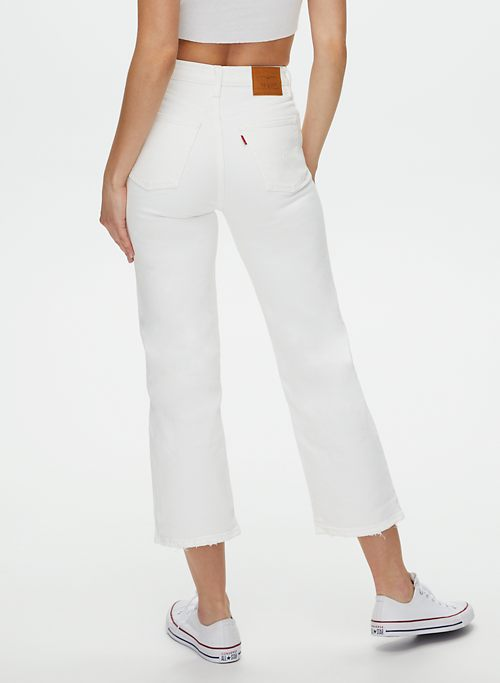 RIBCAGE STRAIGHT ANKLE JEAN - Super high-rise, straight-leg jean