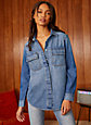 Denim Forum UTILITY EX BOYFRIEND SHIRT | Aritzia