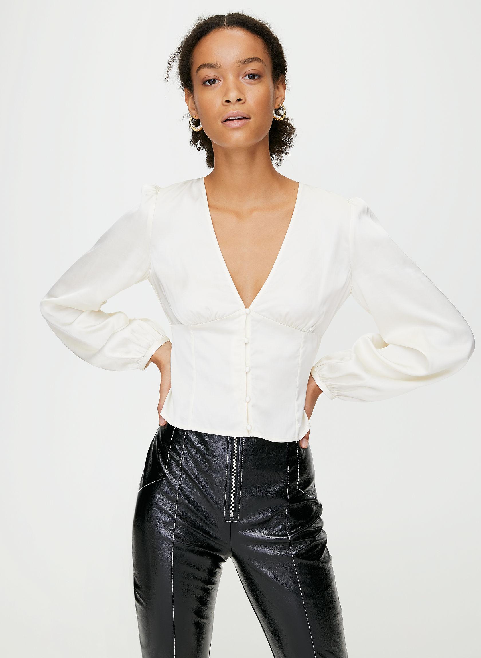 TATIANA BLOUSE - Long sleeve corset top