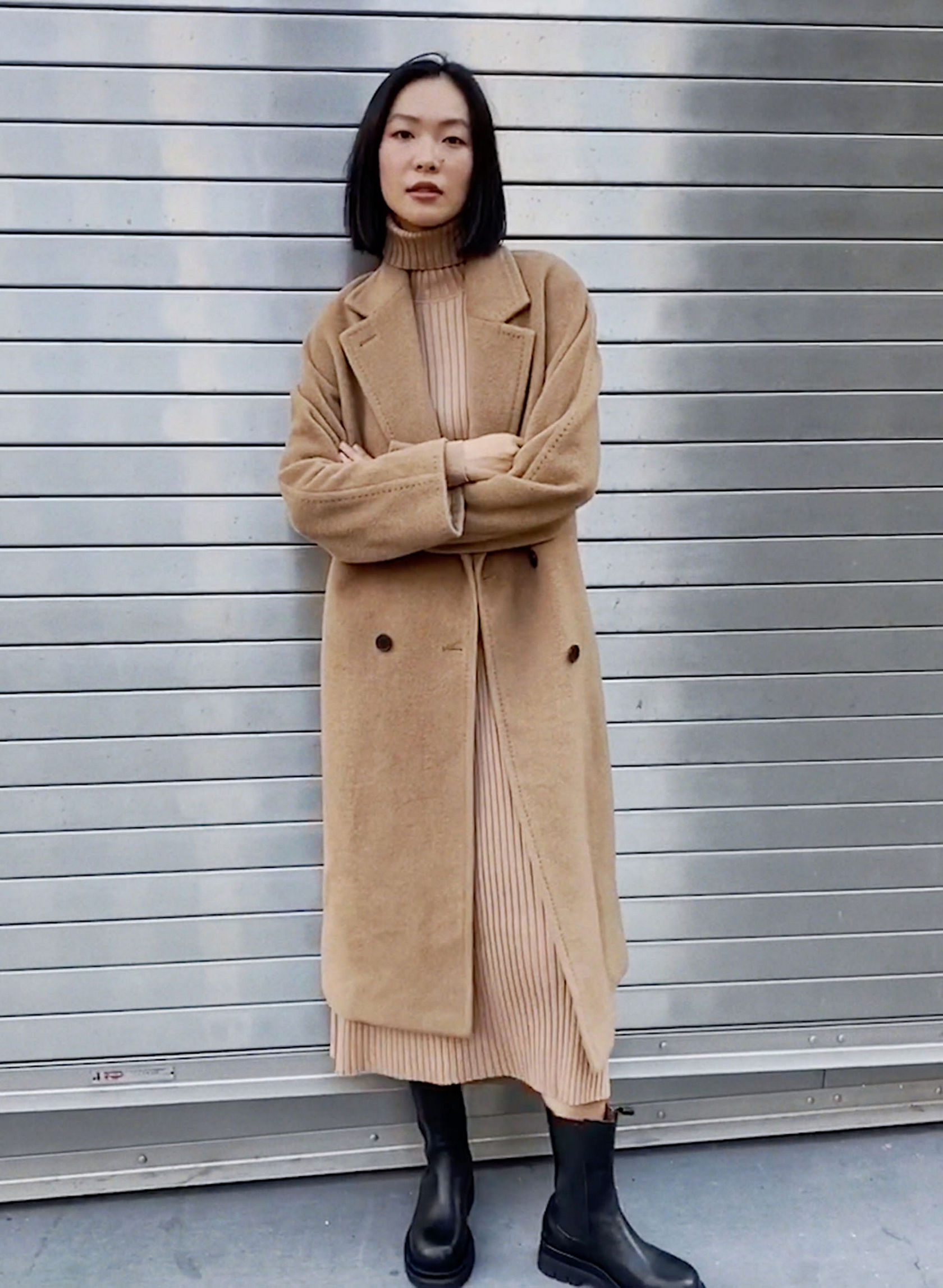 SLOUCH COAT - Oversized double-breasted wool coat