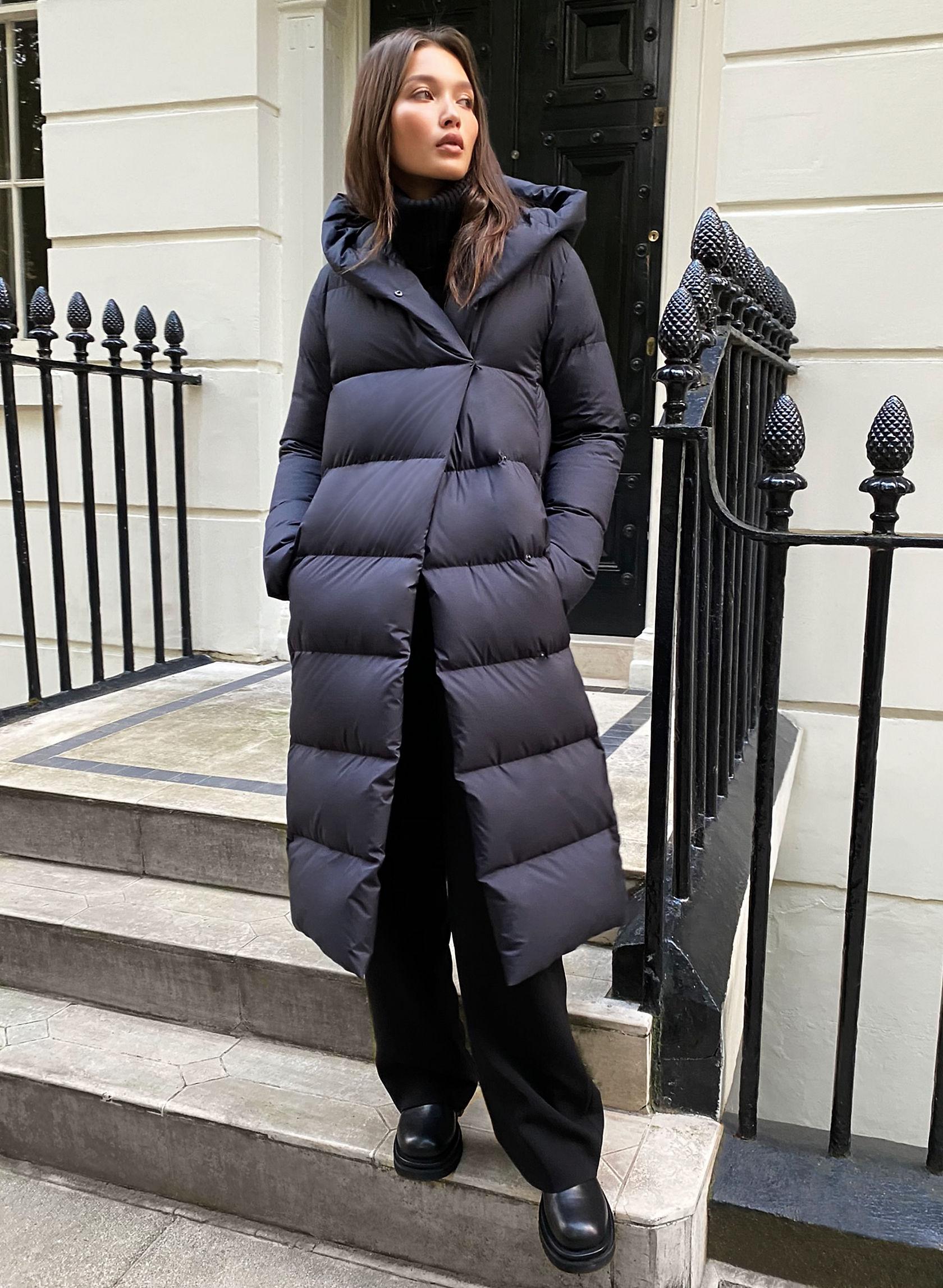 THE DUVET PUFFER - Long goose-down wrap puffer jacket