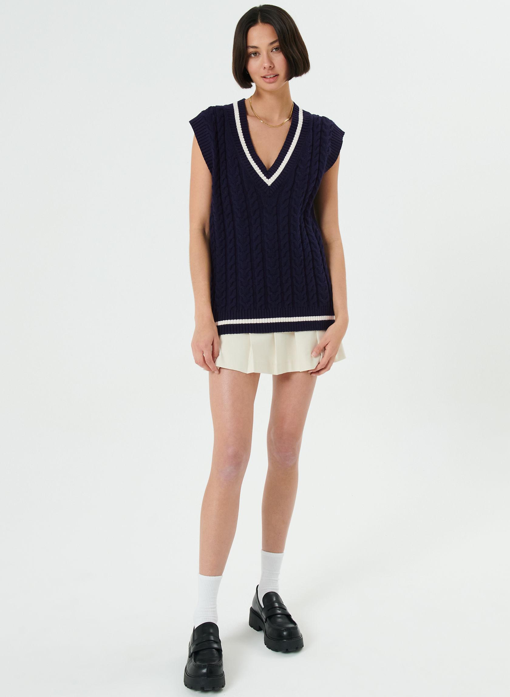 WINSTON SWEATER VEST - Cable-knit sweater vest