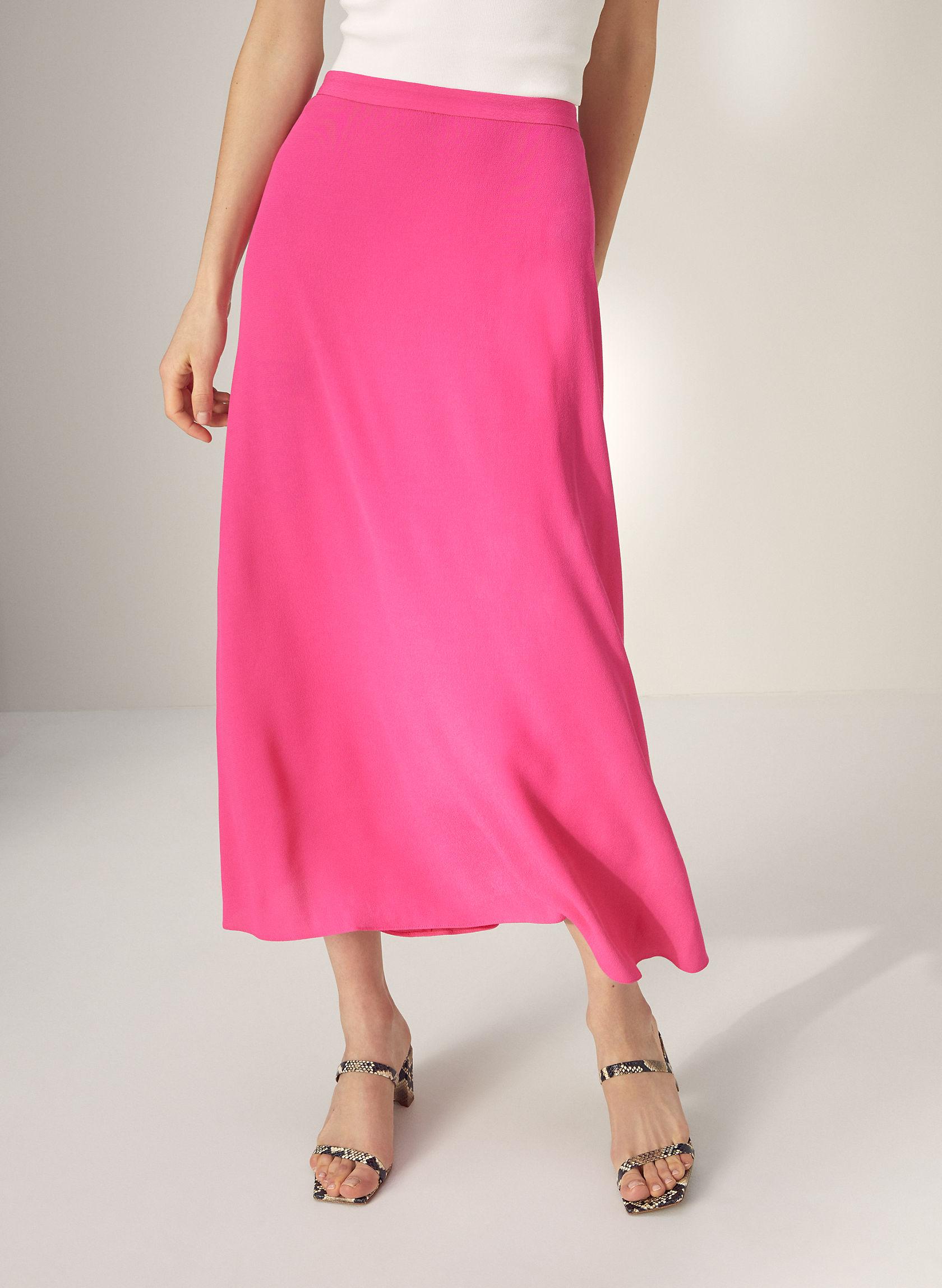 MIDI SKIRT - Slip-style midi skirt