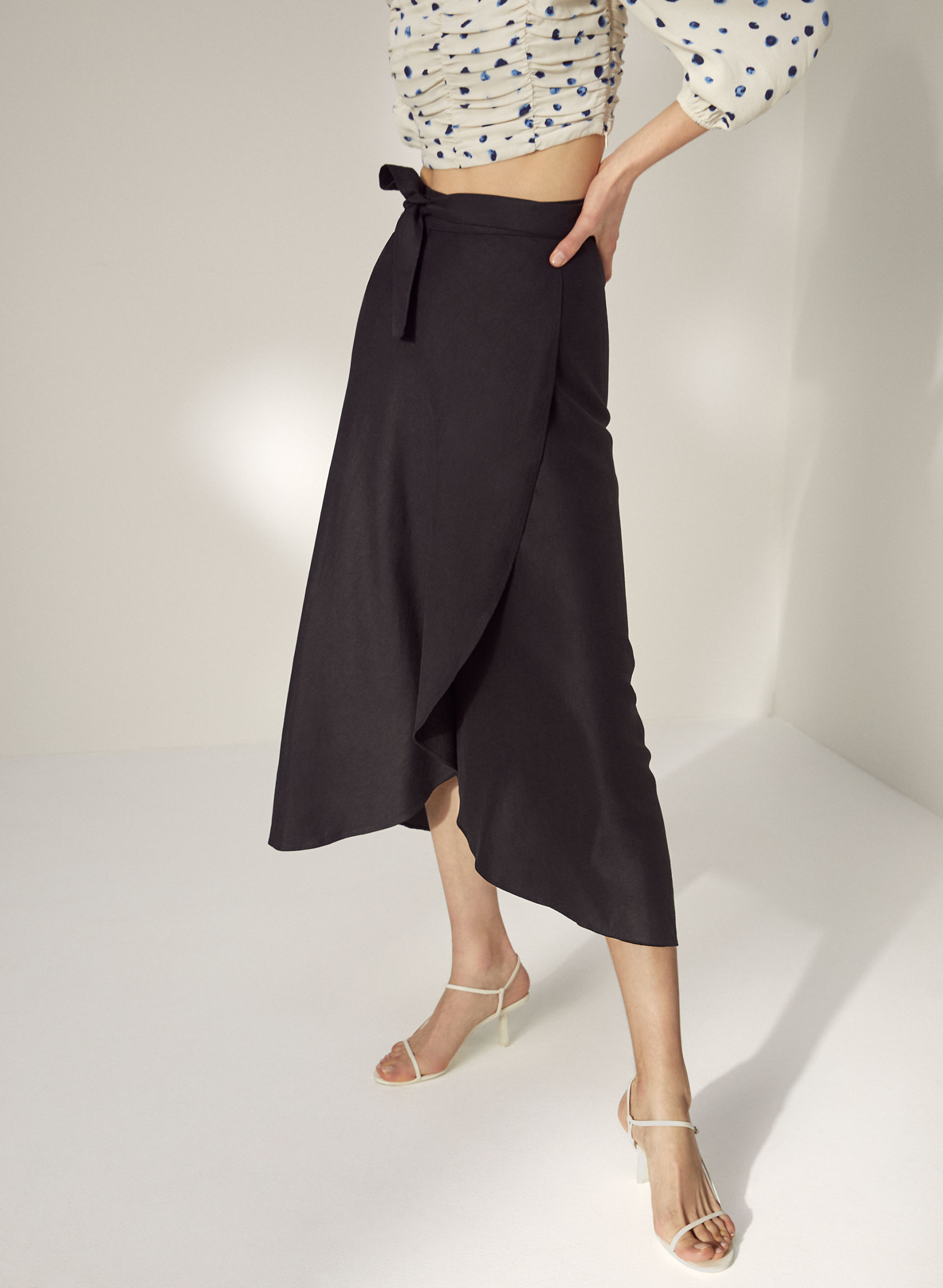 ELETA SKIRT - Linen wrap skirt